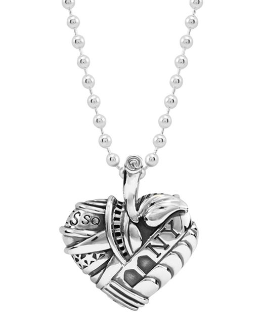 Lagos - Metallic 'hearts Of - New York' Reversible Pendant Necklace (online Only) - Lyst