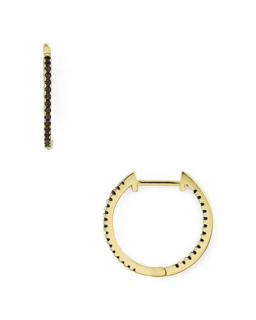 Aqua - Multicolor Black Pavé Huggie Hoop Earrings In 18k Gold-plated Sterling Silver - Lyst
