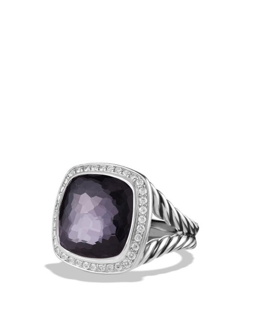 David Yurman - Black Albion Ring With Diamonds In Sterling Silver - Lyst