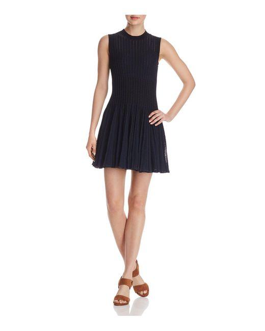 Theory - Black Novelty Checker Dress - Lyst