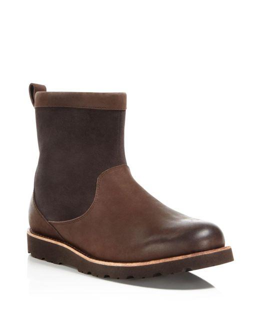 Ugg | Brown Australia Hendren Tl Waterproof Side Zip Boots | Lyst