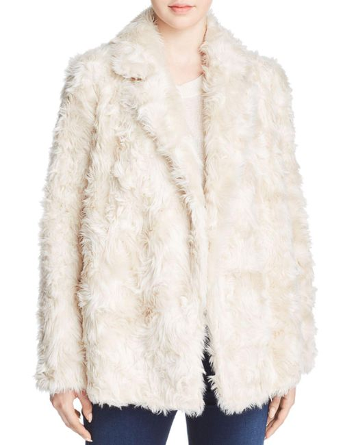 Theory - White Clairene Faux-fur Coat - Lyst