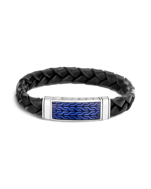 John Hardy | Black Men's Sterling Silver And Leather Classic Chain Bracelet for Men | Lyst