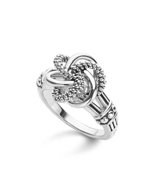Lagos - Metallic Sterling Silver Love Knot Ring - Lyst