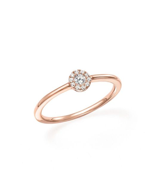 Bloomingdale's - Metallic Diamond Cluster Stacking Ring In 14k Yellow Gold, .10 Ct. T.w. - Lyst