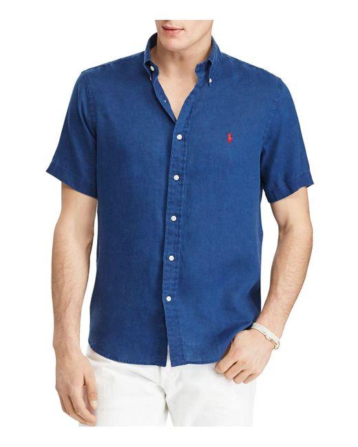 Polo Ralph Lauren   Blue Ocean-wash Classic Fit Button-down Shirt for Men   Lyst