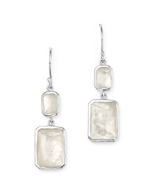 Ippolita | Multicolor Sterling Silver Rock Candy® Snowman Doublet Drop Earrings In Mother-of-pearl Doublet | Lyst