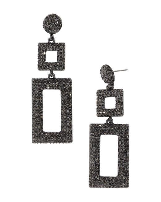 BaubleBar - Gray Davalyn Pavé-encrusted Square & Rectangle Drop Earrings - Lyst