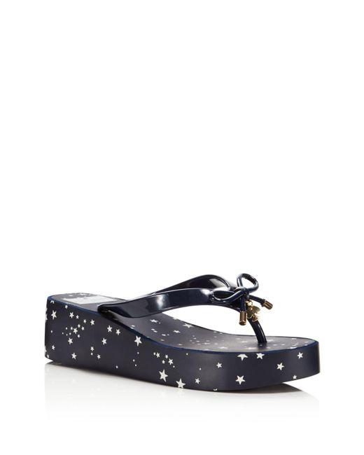 Kate Spade   Blue Women's Rhett Wedge Flip-flops   Lyst