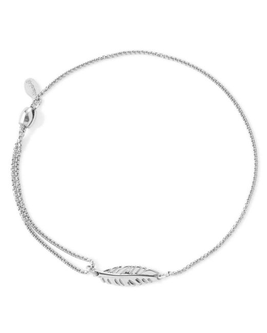 ALEX AND ANI - Metallic Precious Metals Symbolic Feather Pull Chain Bracelet - Lyst