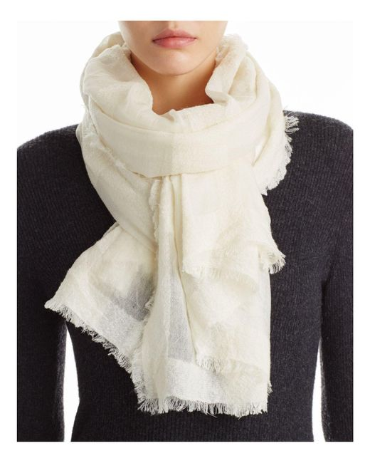 Fraas - White Textured Scarf - Lyst