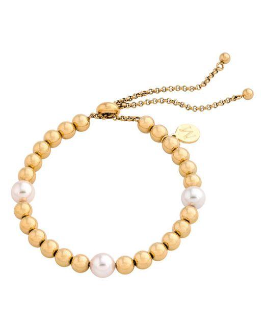 Majorica - Metallic Majorca Simulated Pearl Beaded Bracelet - Lyst