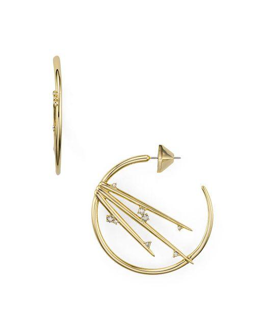 Alexis Bittar | Metallic Spiked Hoop Earrings | Lyst