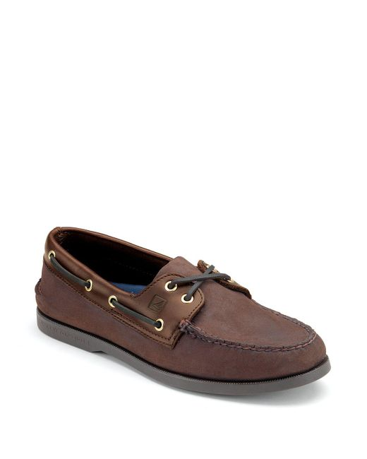 Sperry Top-Sider | Brown Men's Authentic Original Two Eye Boat Shoes for Men | Lyst