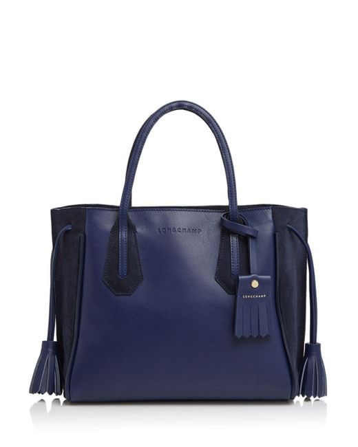 Longchamp - Blue Penelope Fantaisie Small Leather Tote - Lyst
