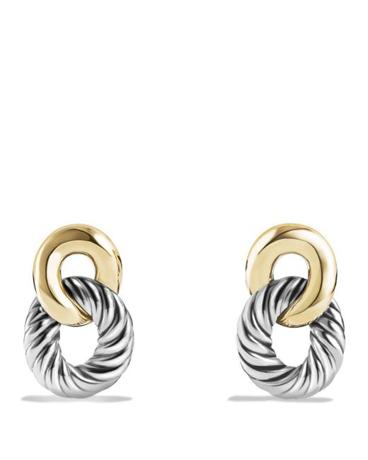 David Yurman - Metallic Belmont Drop Earrings With 18k Gold - Lyst