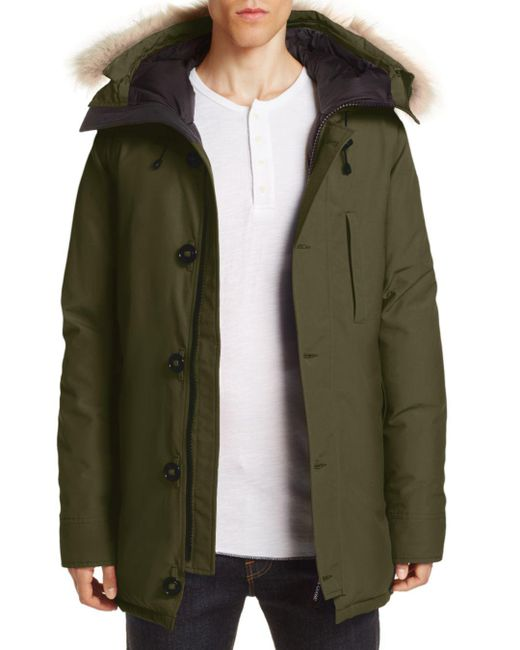 Canada Goose - Green Chateau Parka With Fur Hood for Men - Lyst