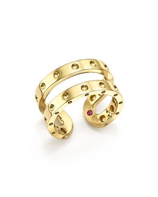 Roberto Coin - Metallic 18k Yellow Gold Symphony Double Ring - Lyst