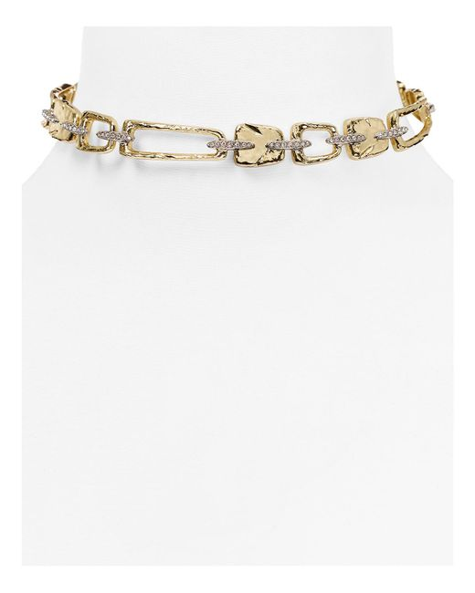 Alexis Bittar | Metallic Abstract Buckle Textured Choker Necklace | Lyst