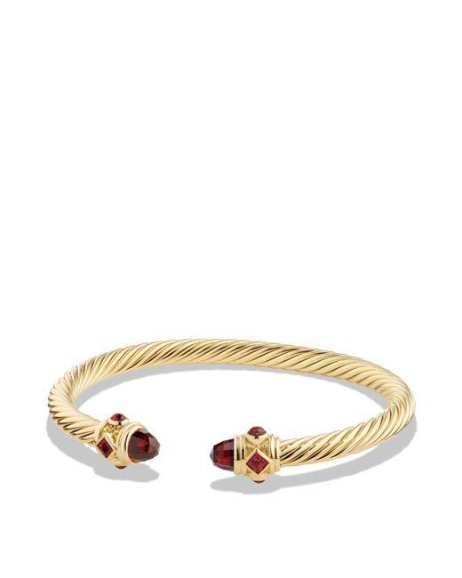 David Yurman | Red Renaissance Bracelet With Garnet In 18k Gold | Lyst
