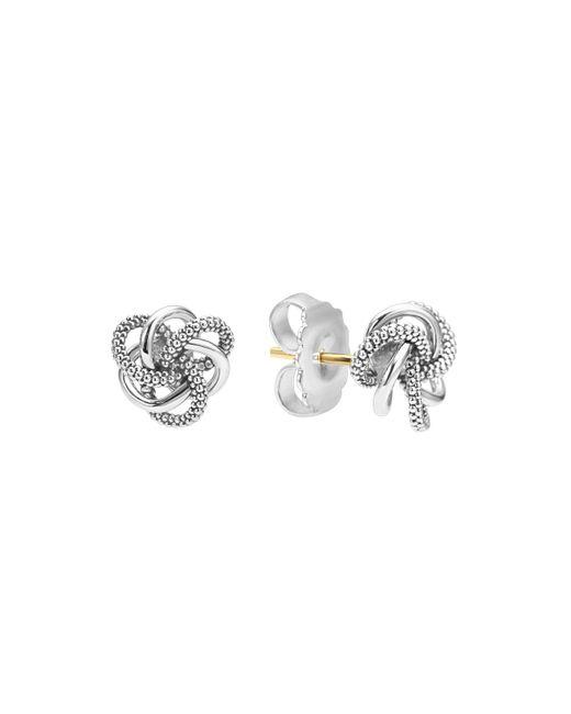 Lagos | Metallic Sterling Silver Love Knot Stud Earrings | Lyst