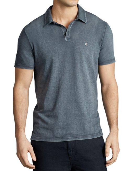 John Varvatos - Gray Peace Slim Fit Polo Shirt for Men - Lyst