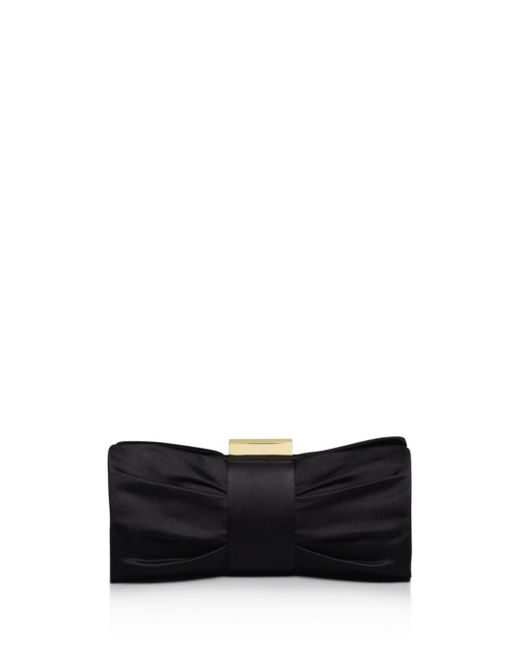 Sondra Roberts - Black Clutch - Pleat Bow - Lyst