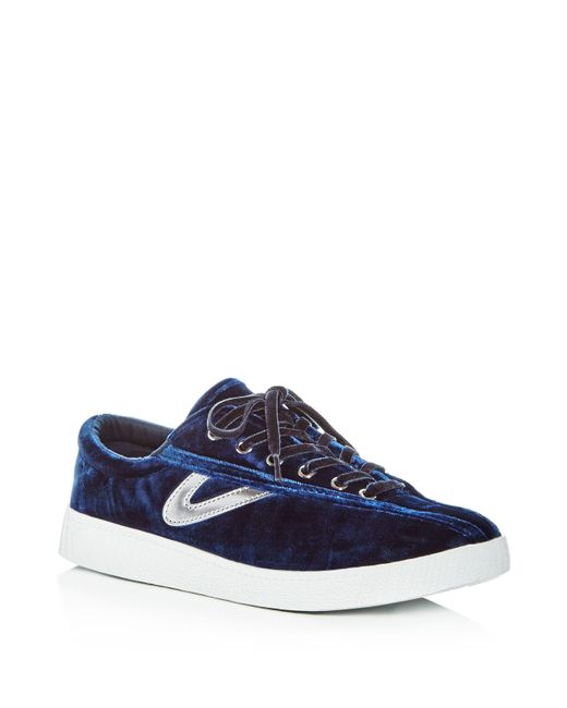 Tretorn   Blue Women's Nylite Plus Velvet Lace Up Sneakers   Lyst