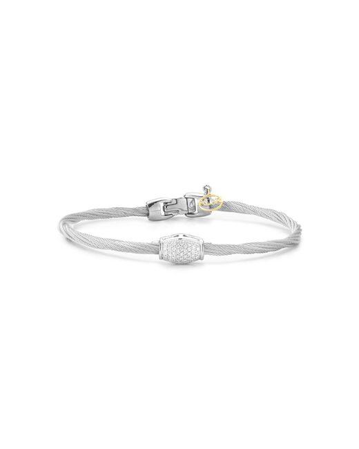 Alor | Metallic Diamond Grey Cable Bangle | Lyst