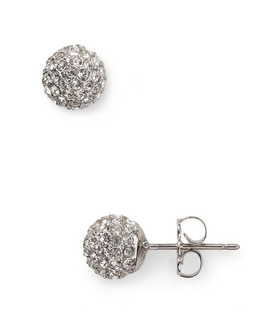 Nadri - Metallic Small Crystal Ball Earrings - Lyst