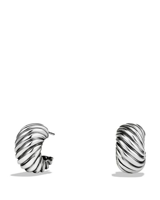 David Yurman - Metallic Cable Classics Hoop Earrings - Lyst