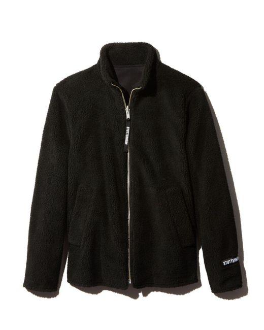 Stutterheim - Reversible Black Fleece Varby Zip Jacket for Men - Lyst
