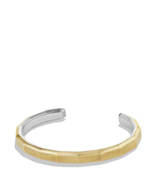 David Yurman   Metallic Faceted Metal Cuff Bracelet With 18k Gold   Lyst