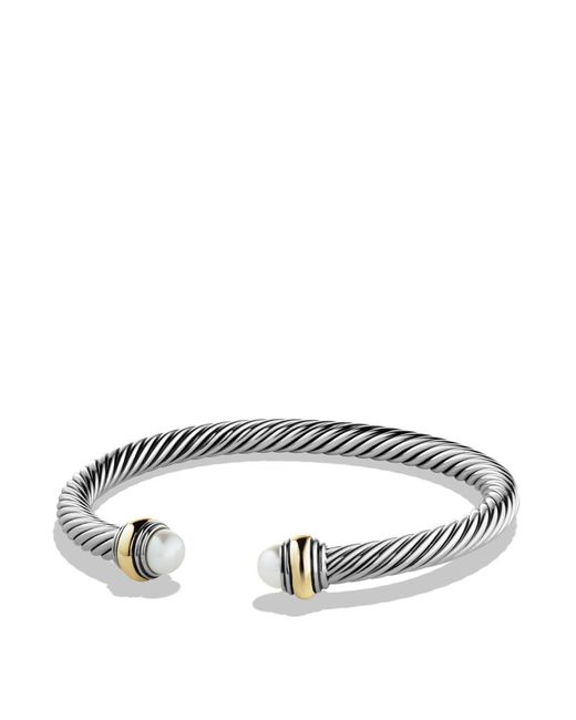 David Yurman - White Cable Classics Bracelet With Pearl And Gold - Lyst