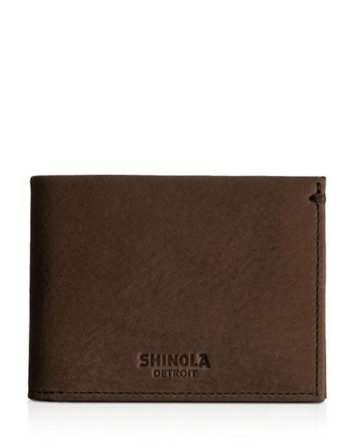 Shinola - Brown Slim Bifold Wallet for Men - Lyst