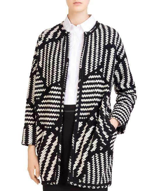 Gerard Darel - Black Marla Graphic-knit Jacket - Lyst