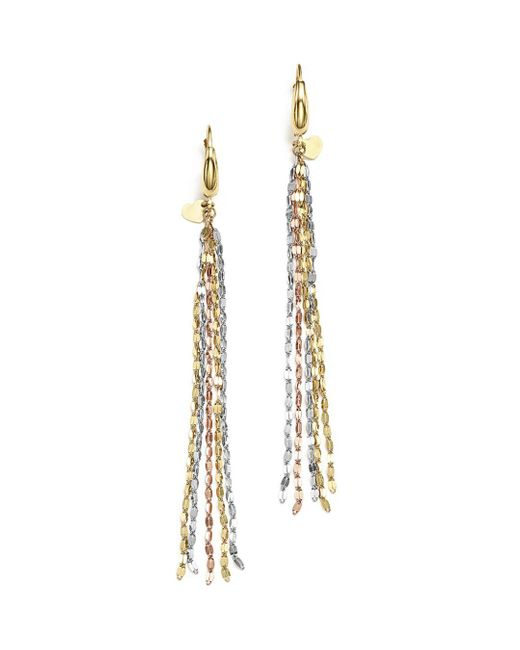 Bloomingdale's - Multicolor 14k Yellow, White And Rose Gold Five Strand Earrings - Lyst
