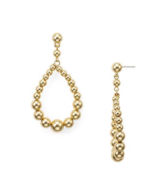 Aqua | Metallic Ball Teardrop Earrings | Lyst