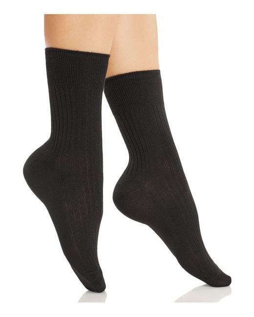 Hue | Black Rib Socks | Lyst