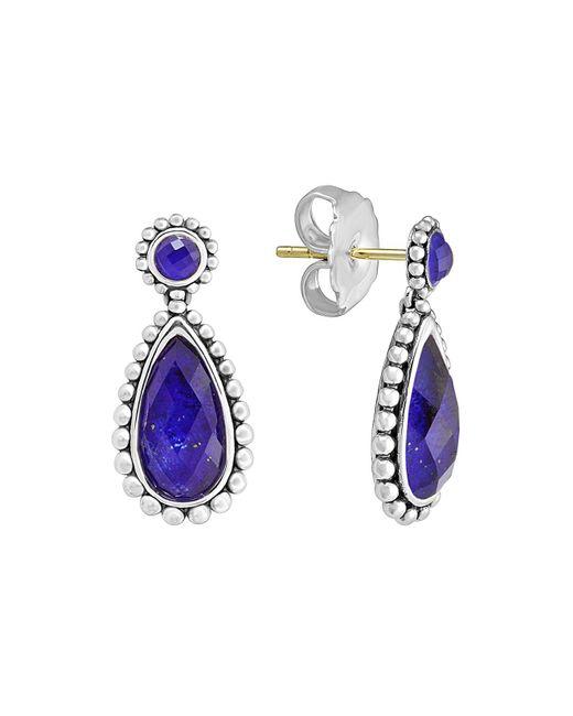 Lagos - Blue Sterling Silver Lapis Doublet Drop Earrings - Lyst