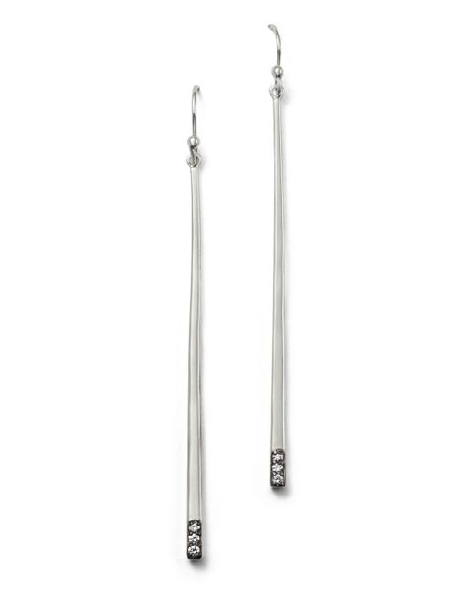 Ippolita - Metallic Sterling Silver Glamazon® Stardust Linear Earrings With Diamonds - Lyst