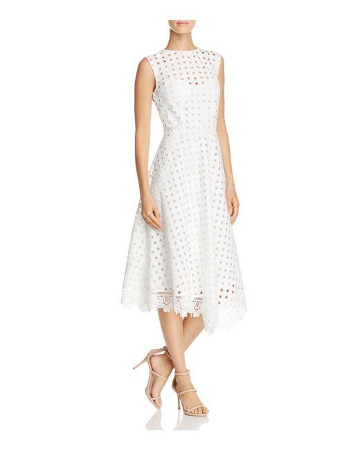 La Maison Talulah | White La Maison Eyelet Midi Dress | Lyst