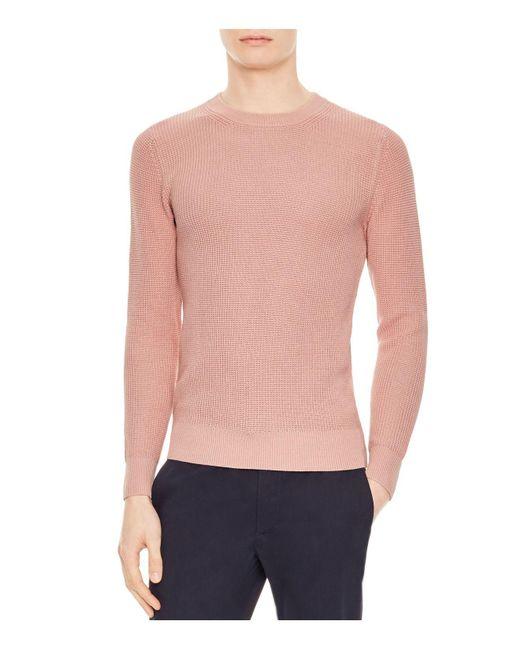 Sandro - Pink Celest Sweater for Men - Lyst