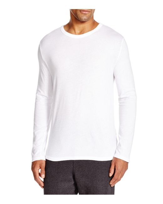 T By Alexander Wang   White Classic Long Sleeve Tee for Men   Lyst