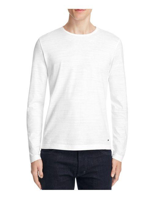 BOSS Green | White Sassari Ribbed Panel Long Sleeve Tee for Men | Lyst