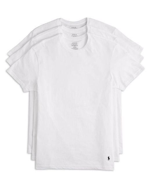 Polo Ralph Lauren White Men's 3 - Pack Cotton Crew Tees for men