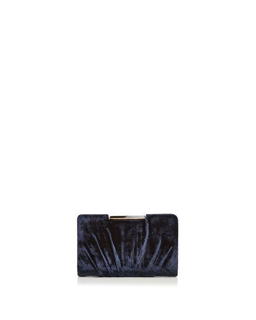 Sondra Roberts - Blue Frame Pleated Velvet Clutch - Lyst