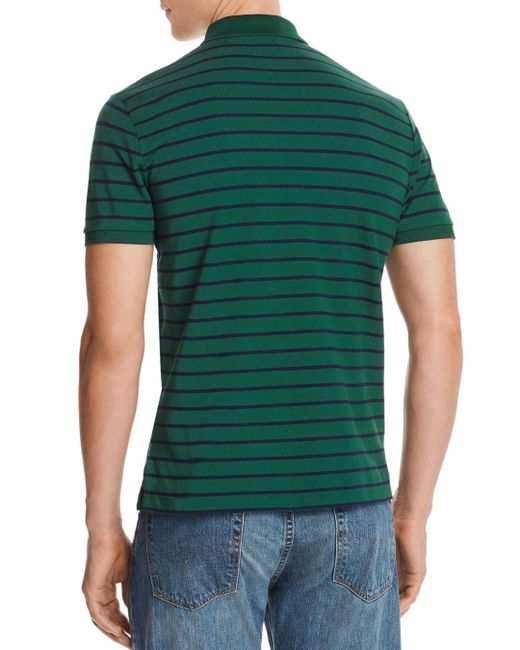 993ef535 ... Polo Ralph Lauren - Green Striped Mesh Custom Slim Fit Polo Shirt for  Men - Lyst