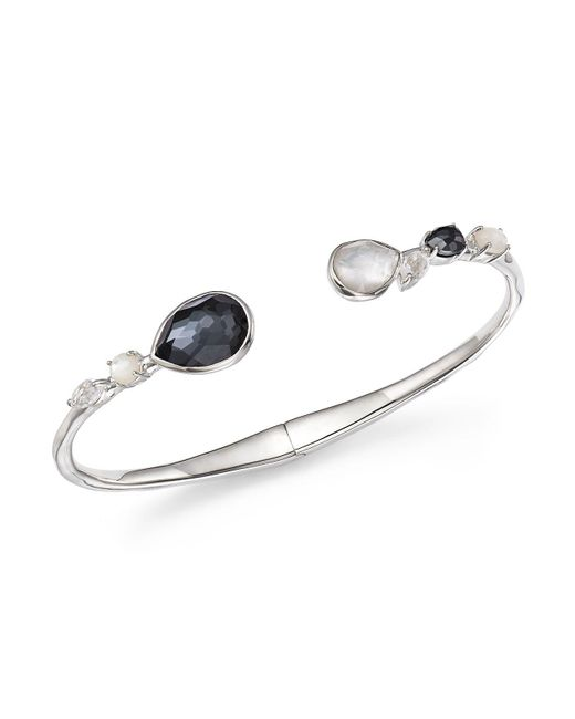 Ippolita | Multicolor Mother-of-pearl Doublet And Clear Quartz Open Bangle In Piazza | Lyst