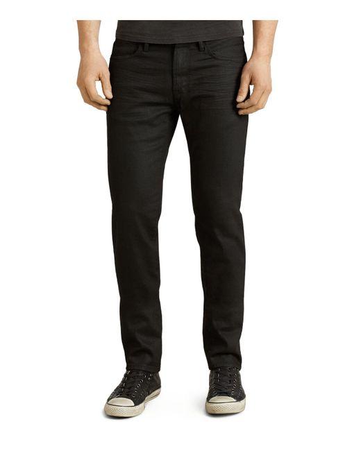 John Varvatos - Bowery Slim Straight Fit Jeans In Jet Black for Men - Lyst